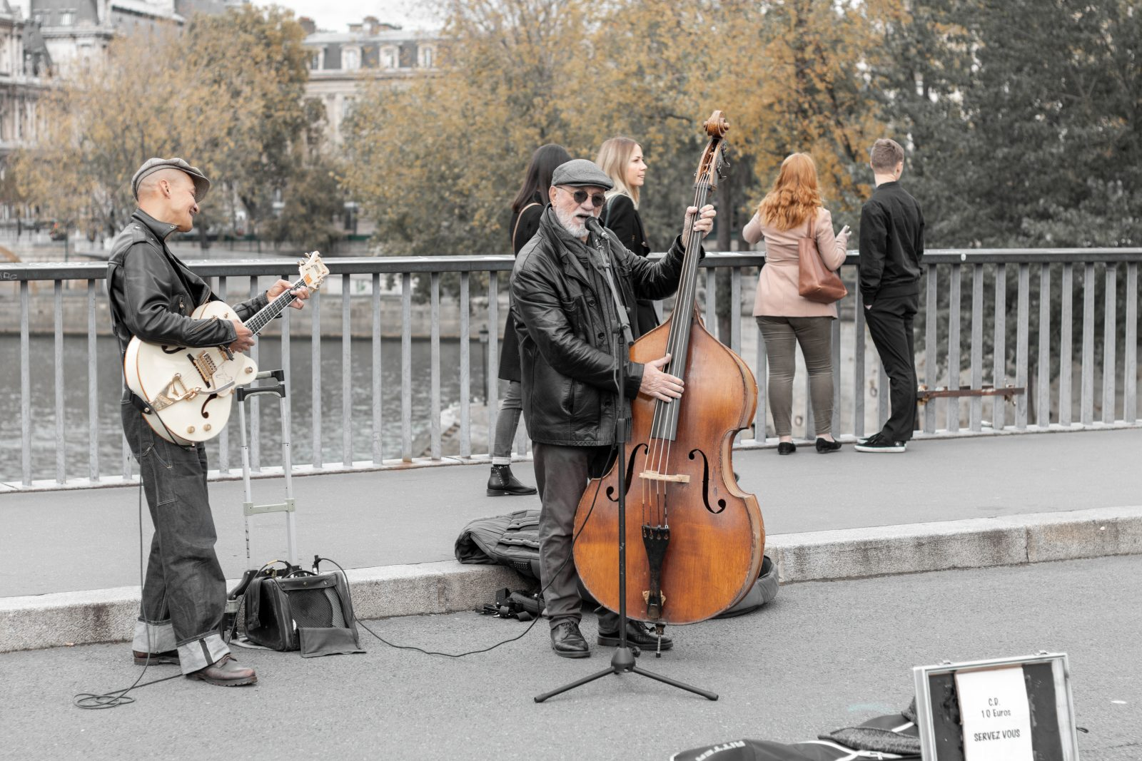 Musikere på Ile Saint Louis