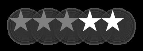 3 ud af 5 stjerner